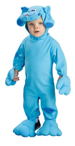 Costumes Clues Halloween For Blues (Nickelodeon Toddler Blue's Clues Romper And Headpiece, Blue Print, 6-12)