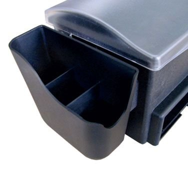 Browne Foodservice 574877 Black Side Caddy-574877