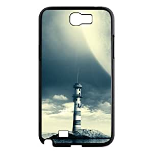 ANCASE Diy Phone Case Lighthouse Pattern Hard Case For Samsung Galaxy Note 2 N7100