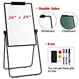 magnetic seating chart - DOEWORKS 24'' x 36'' Magnetic U-Stand Whiteboard/Flipchart Easel, Double Sided Dry Erase Boards, Height Adjustable and Foldable U Stand Easel