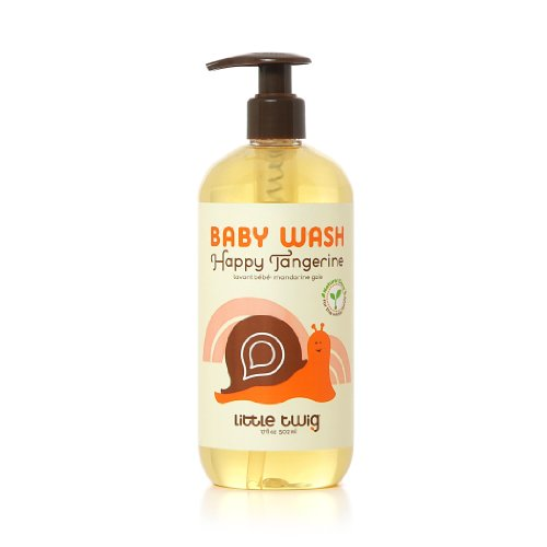 (Little Twig All Natural Baby Wash, Tangerine, 17 Fluid)