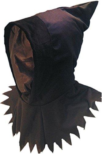 Smiffys Unisex Ghoul Hood & Mask, Black, One Size, 98152