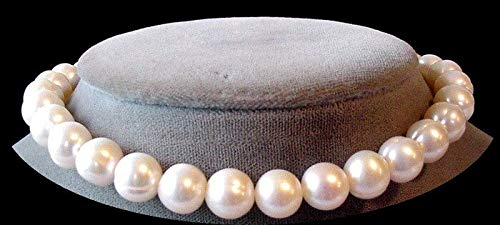 Heavenly 9.5 to 10mm Cream White FW Pearl Strand for Jewelry Making 103593 ()