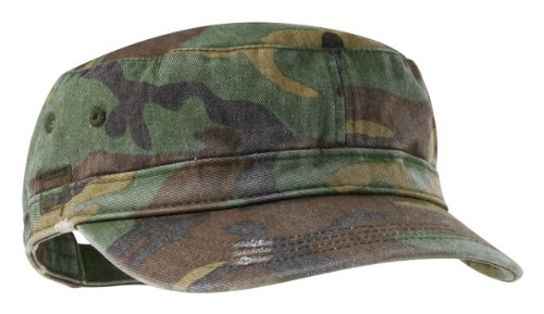 District Threads Distressed Military Hat - Military Camo - One Size (Hats For Wholesale)