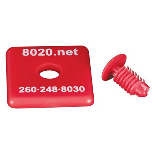 1 X 1 X 1//8 80//20 1010 End Cap Red