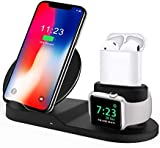 Wireless Charger, Compatible iph one Charger, 3-in-1 Replacement Charging Station for iph one Xs/X Max/XR/X/8/8Plus/Watch (A)