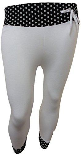 Funky Fashion Shop - Pantalón - para mujer White Polka Dot