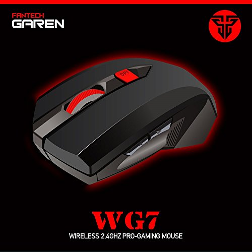 Cage Sents 2.4ghz Pro Gaming Mouse 2000 DPI 6 Buttons LED Optical Ergonomic Adjustable High Precision comfortable gift ()