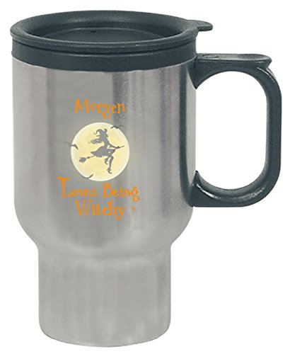Morgen Loves Being Witchy Halloween Gift - Travel Mug]()