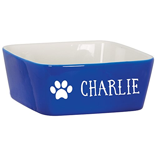 Custom Pet Bowl with Paw Print Design| Personalized Engraved Dog Cat Bowl | Custom Pet Gifts | 7