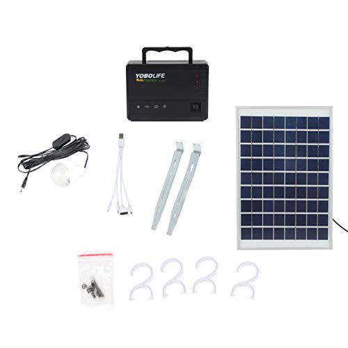 Portable Solar Panel Power Storage Generator LED Light 4 USB Charger Home System by Foreverharbor (Image #8)