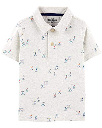 Osh Kosh Boys' Toddler Short-Sleeve Polo, Baseball, ()