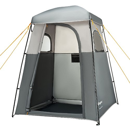 KingCamp Oversize Outdoor Easy Up Portable Dressing Changing Room Shower Privacy Shelter Tent Grey