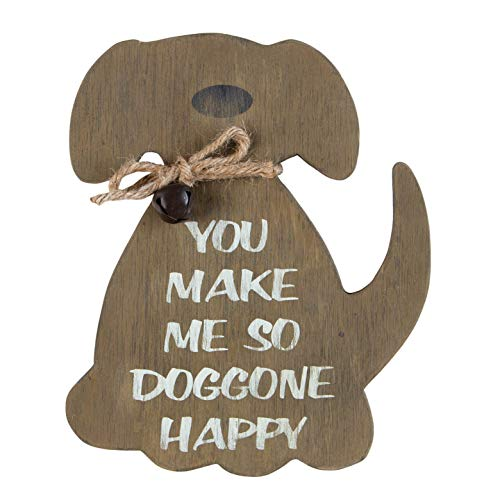 OHIO WHOLESALE, INC. So Doggone Happy Dog Weathered Natural Brown 8 x 7 MDF Wood Decorative Plaque