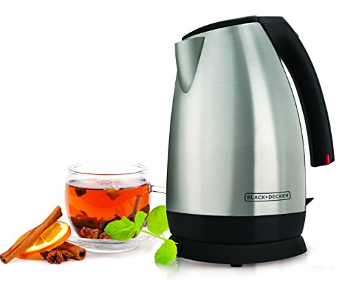 Black & Decker JKC650 Cordless Electric Kettle, Stainless-Steel (Black Decker Coffee Tea compare prices)