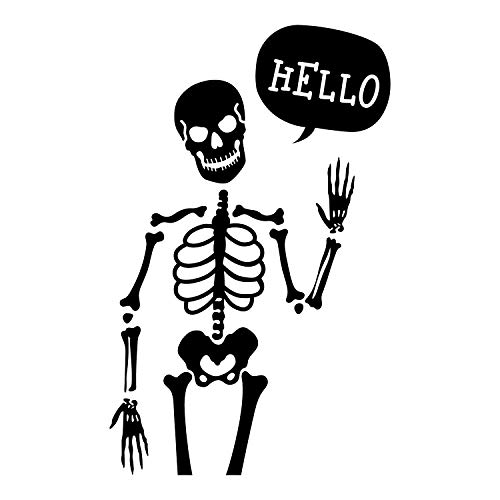 Vinyl Wall Art Decal - Hello Skeleton - 35