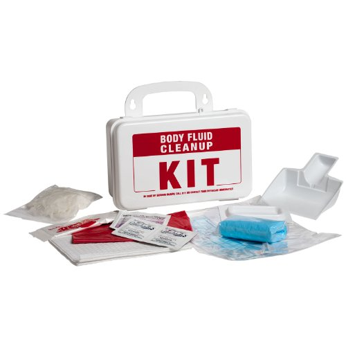 Clean Fluid (ProStat First Aid 2222 14 Piece Body Fluid Clean Up Kit with Plastic Box)
