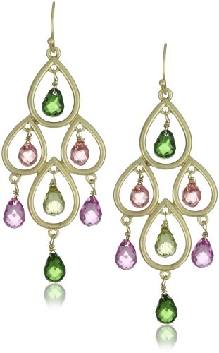 Flying Lizard Designs Watermelon Tourmaline Color Drop Earrings