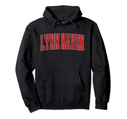 LYNN HAVEN FL FLORIDA Varsity Style USA Vintage Sports Pullover Hoodie (Lynn Grey Weather)