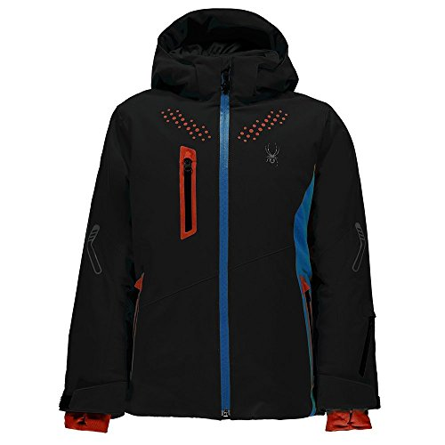 Spyder Kids Boy's Vail Jacket (Big Kids) Black/Fresh Blue/Burst 16 by Spyder