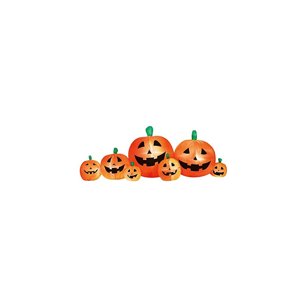 fall harvest decorations outdoors airflowz inflatable 8 pumpkin patch inflatable halloween  airflowz inflatable 8 pumpkin patch