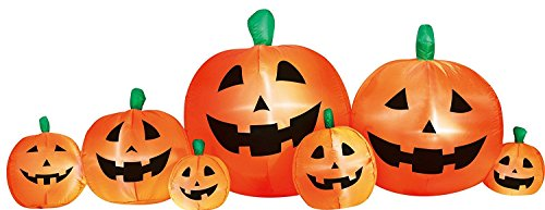 Airflowz Inflatable 8' Pumpkin Patch Inflatable Halloween Decoration Autumn Fall Harvest]()