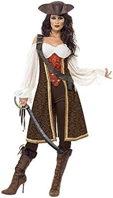 Smiffys Smiffys- Disfraz de moza Pirata de Alta mar, con Vestido ...