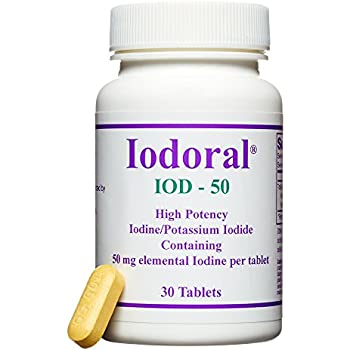 Optimox - Iodoral 50mg, High Potency Iodine/Potassium Iodide Thyroid Support Supplement, 30 tablets