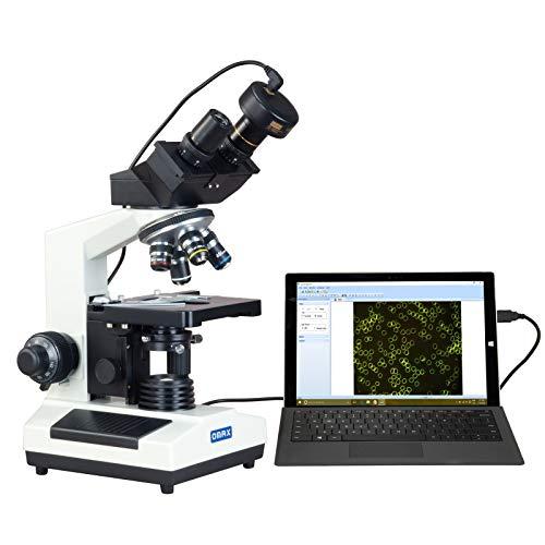 OMAX 40X-1000X Compound Binocular Microscope w Darkfield Condenser+2.0MP USB Digital Camera