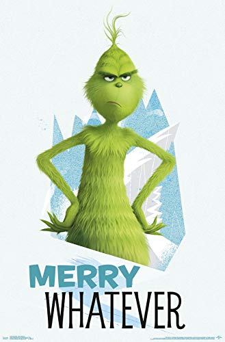 Trends International The Grinch-Merry Whatever Wall Poster, 22.375