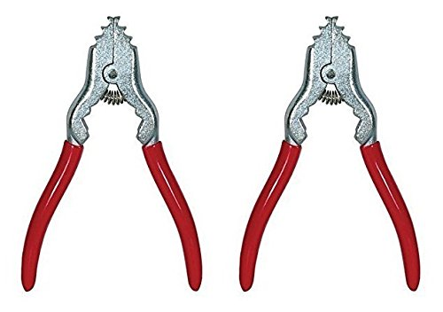 Satco 90-099 Malleable Iron Chain Pliers, Red, Will Not Mar Chain, Spring Loaded, 7'' Length, 4-1/4'' -