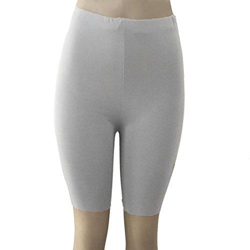 Longra Women Fashion Solid High Elasticity Leggings Gym Active Pants Cycling Shorts Women's Wide Leg Pants Gray