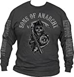 SONS OF ANARCHY CHARCOAL MENS LONG SLEEVES TEE (XLarge)
