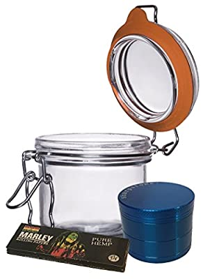 Medallion TOP QUALITY Smell Proof Airtight Glass Tobacco Herb Coffee Container Jar from NerdPeeps