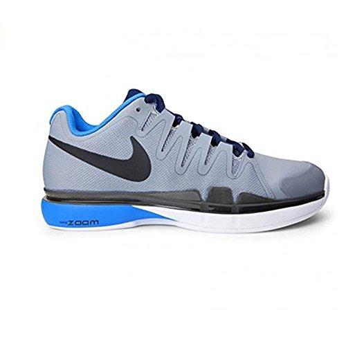 Nike Zoom Vapor 9.5 Tour Clay, Zapatillas de Tenis para Hombre Gris / Negro / Azul / Negro (Stealth / Black-Hrtg Cyan-Obsdn)