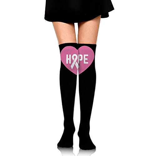 Women's Knee High Compression Thigh High Socks Breast Cancer Awareness For Football Sport Long Stockings by WRE8577