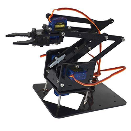 - Baoblaze 4 Degree of Freedom Tank Robot Mechanical Arm with 4 Servos For Arduino 51 Robotics Learning Manipulator DIY Model Set Students Study