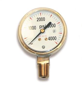 US Forge 08030 Victor Style High Pressure Gauge for Oxygen Regulators 0-4000 P.S.I.