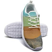Armsttm Womens Lightweight Fashion Sneakers Beach Rocks Sea Glass Casual Running Shoes