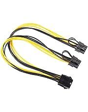 OUOshield 30cm 8 pin PCI Express naar Dual PCIE 8 (6 + 2) pin Power Cable PCI-e GPU Splitter Power Data Kabel