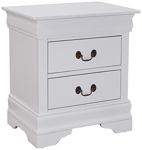 Cheap Louis Philippe 2-drawer Nightstand White