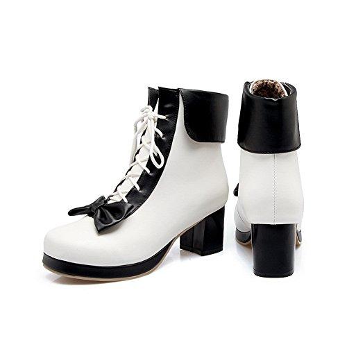 Fashion Womens BalaMasa nbsp;Color Urethane Assorted ABL10017 Black Boots Platform qFqxPCw