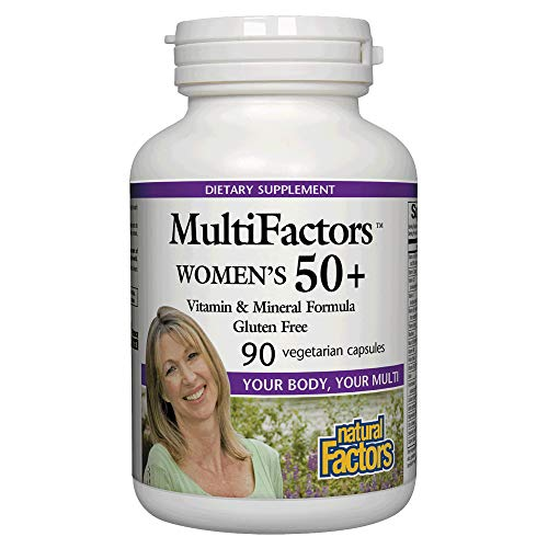 Natural Factors - MultiFactors Women's 50+, Multivitamin Support Daily Nutritional Needs of Women Over 50, Gluten Free, 90 Vegetarian ()