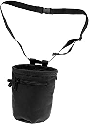 10.5 X 15cm Cylindrical Weight Lifting Rock Climbing Chalk Bag + Belt Pocket