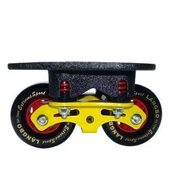 TTYY Freeline Drift Skates PU Ruedas Freeline Sports ABS Pedal Diseño único de resorte Antideslizante Resistente al desgaste , Yellow