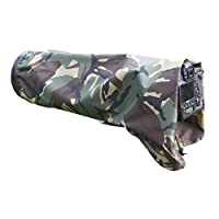 Rainsleeve cover for camera lenses, f2.8, Army Camouflage Camera Cover, Camera Protector, Lens Protector, Lens Cover, 300mm f2.8 size in army DPM pattern material, WATERPROOF.