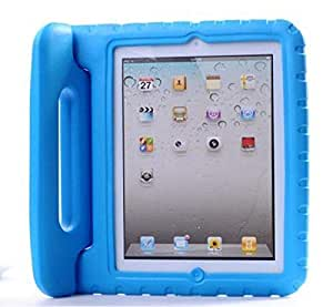 Full Access Light Blue Child Kids Shock Proof Foam EVA Cover Case Handle Stand For iPad mini