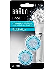 فرشاة لتقشير الوجه من براون، عبوة من قطعتين - 80-e Face