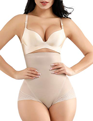 Seamless Shapewear Tummy Control Shapewear Shaping Control Panty High Waist Boyshorts Beige S