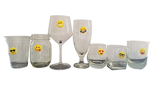 Emoji Charms with Suction 12 Pack, Perfect Markers for Everything from Wine Glass to Red Cups! Lifetime by Lifetime Inc (Image #3)